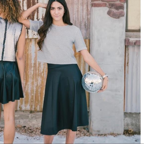 4dc4a1ecfb Agnes & Dora Dresses & Skirts - Agnes & Dora faux leather midi skirt